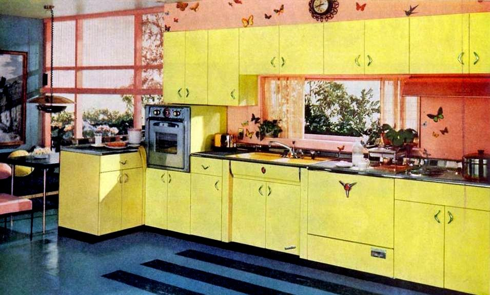 Kitchen And Pink Yellow