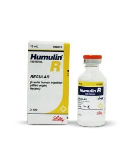 Humulin R Insulin 100 IU Vial