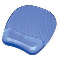 Fellowes Crystal Gel Mouse Pad Blue 9114106-0
