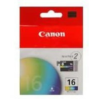 Canon BCI-16C Ink Cartridge Tri-Colour Pk2 BCI16C 9818A008-0