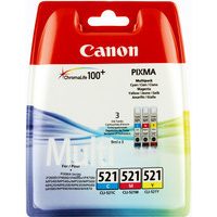 Canon CLI-521 Ink Cartridge 3-Colour 2934B007AA 9ml CMY-0