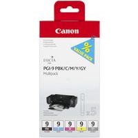 Canon PGI-9 Ink Cartridges Multi-Pack BK/C/M/Y/GY 1034B011-0