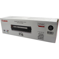 Canon 716 Toner Cartridge Black CRG-716 716BK 1980B002AA-0