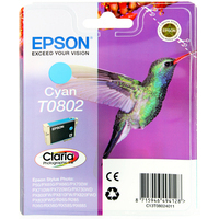 Epson T0802 Ink Cartridge Cyan C13T080240-0