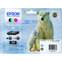 Epson T2616 Ink Cartridge Black Cyan Magenta Yellow C13T26164010-0