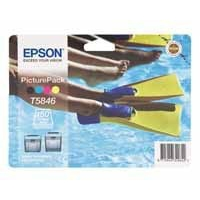 Epson Ink Cartridges Black/Cyan/Mag/Yell Plus Photo Paper C13T584640A0-0