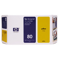 HP C4848A Ink Cartridge Yellow HPC4848A 80 350ml-0
