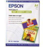 Epson Photo Quality Paper A4 Self-Adhesive Pk10 C13S041106-0