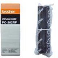 Brother PC 302RF Fax Cartridge Ink Ribbon Refill Pk2 PC302RF-0