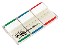 3M Post-it Strong Index 1 inch Green/Red/Blue 686L-GBR-0