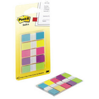 3M Post-it Small Indexes 12mm Portable Assorted (5 Pads of 20) 683-5CBINDEX-0
