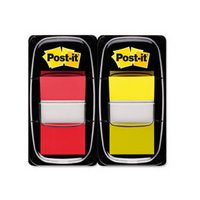 3M Post-it Index 1 inch Dual PkRed/Yellow 680-RY2-0