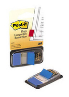 3M Post-it Index Tab 25mm Blue With Dispenser Pk50 680-2-0