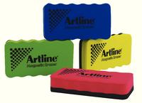 Artline Magnetic Whiteboard Eraser Pk4 Assorted ERTmm4A-0