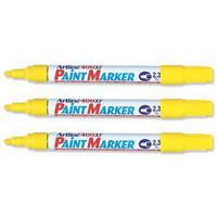 Artline 400 Paint Marker Medium Bullet Tip Yellow A4006-0