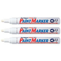 Artline 400 Paint Marker Medium Bullet Tip White A400-0