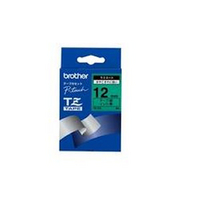 Brother P-Touch Tape TZ731 12mm Labels Black on Green TZ-731-0
