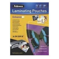 Fellowes Laminating Pouch A4 Self Adhesive 160micron Enhance 53022-0
