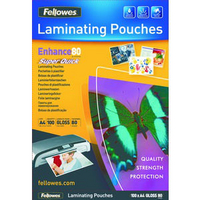 Fellowes A4 Super Quick Laminating Pouch Pk100 5440001-0