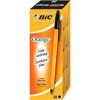 Bic Orange Grip Ball Point Pen Black 811925-0