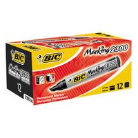 Bic Permanent Marker Chisel Tip Black 300093 820926-0