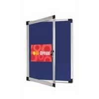 Bi-Office External Display Notice Board 600x450mm Blue Fabric-0