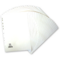 Elba Divider A4 20-Part 160gsm Manilla White 400007500-0
