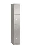 Bisley 4 Door Locker 305x457x1802mm Goose Grey CLK184-0