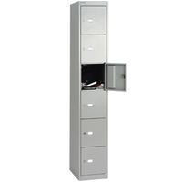 Bisley 6 Door Locker 305x305x1802mm Goose Grey-0