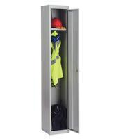 Bisley 1 Door Locker 305x457x1802mm Goose Grey-0