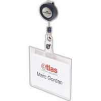 Durable Name Badge With Badge Reel Pk10 8138/19-0