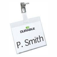 Durable Name Badge 60x90mm Security Fastener Pk25 8003-0