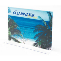 Deflecto Stand Up Sign Holder A4 Landscape Clear-0