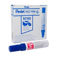 Pentel Marker Chisel Tip Blue M180/6-C Pk6