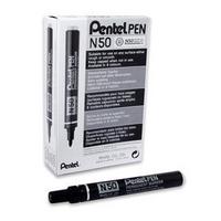 Pentel Permanent Marker Bullet Tip Black N50-A Pk12