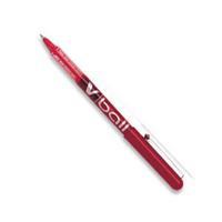 Pilot V-Ball Rollerball Pen 0.5mm Line Red BLVB702 Pk12