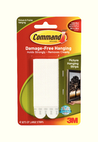 3M Command Large Picture Hanging Strips Pk4 17206-0