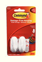 3M Command Small Oval Hooks with Command Adhesive Strips 17082-0