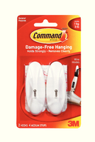 3M Command Medium Wire Hooks with Command Strips 17068-0