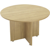 Avior 1200mm Round Meeting Table Ash KF838268-0