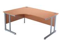 Jemini 1500mm Radial Left Hand Cantilever Desk Beech-0