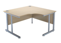 Jemini Intro 1200mm Radial Right Hand Cantilever Desk Maple-0