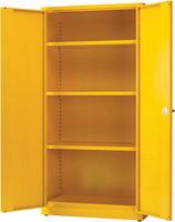 Hazardous Substance Storage Cabinet 72x36x18 inch c/w 3 Shelf Yellow 188736-0