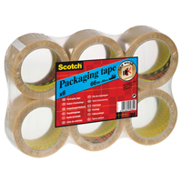3M Scotch Packaging Tape PVC 50mm x66m Clear PVC5066F6 T-0