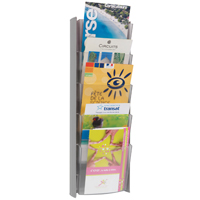 Alba Wall Display Unit 5 Pocket A5 Metallic W200 x H560mm DDPROMMM-0