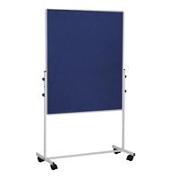 Bi-Office Mobile Felt Board 1500 x 1200mm Blue EA8327075-0