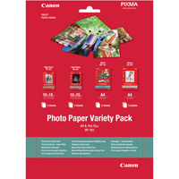 Canon Photo Paper Variety Pack A4 and 10x15cm VP-101 20 Sheets 0775B079-0