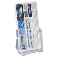 Deflecto Literature Holder 1/3xA4/DL Clear 77501-0