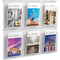Helit Wall Display 6 x A4 Pockets Clear H6812002-0