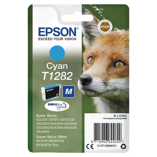 Epson T1282 Cyan Ink Cartridge C13T12824012-0